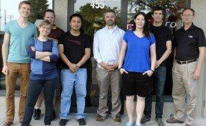 Team ViVitro:  (L to R) Matthias, Janet, Marshall, Dev, Ted, Lori, Joe, Gerry.